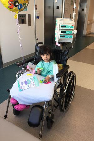 Katianna Face Au Syndrome De Kawasaki Hopital De Montreal Pour Enfants